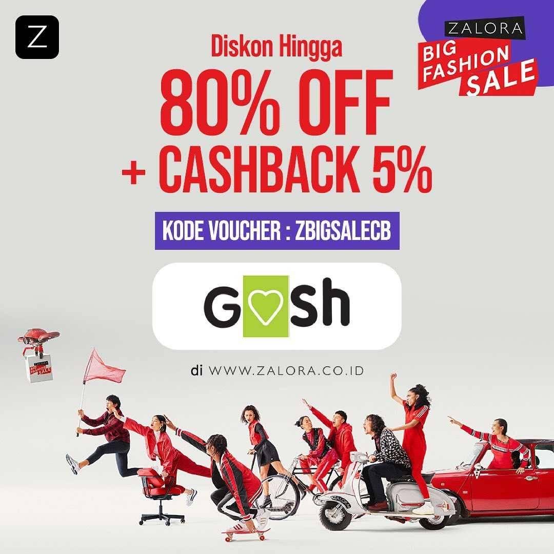 Diskon Gosh Diskon Hingga 80% Off + Cashback 5% Dengan Zalora