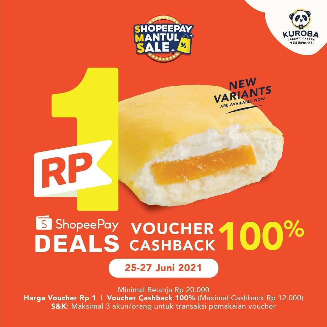 Diskon Kuroba Voucher Rp. 1 Dengan Shopeepay