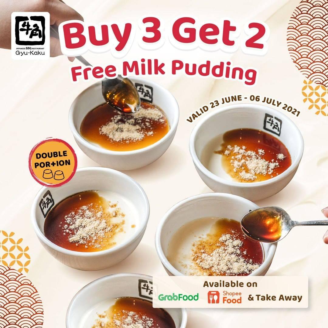 Diskon Gyukaku Buy 3 Get 2 Free Milk Pudding