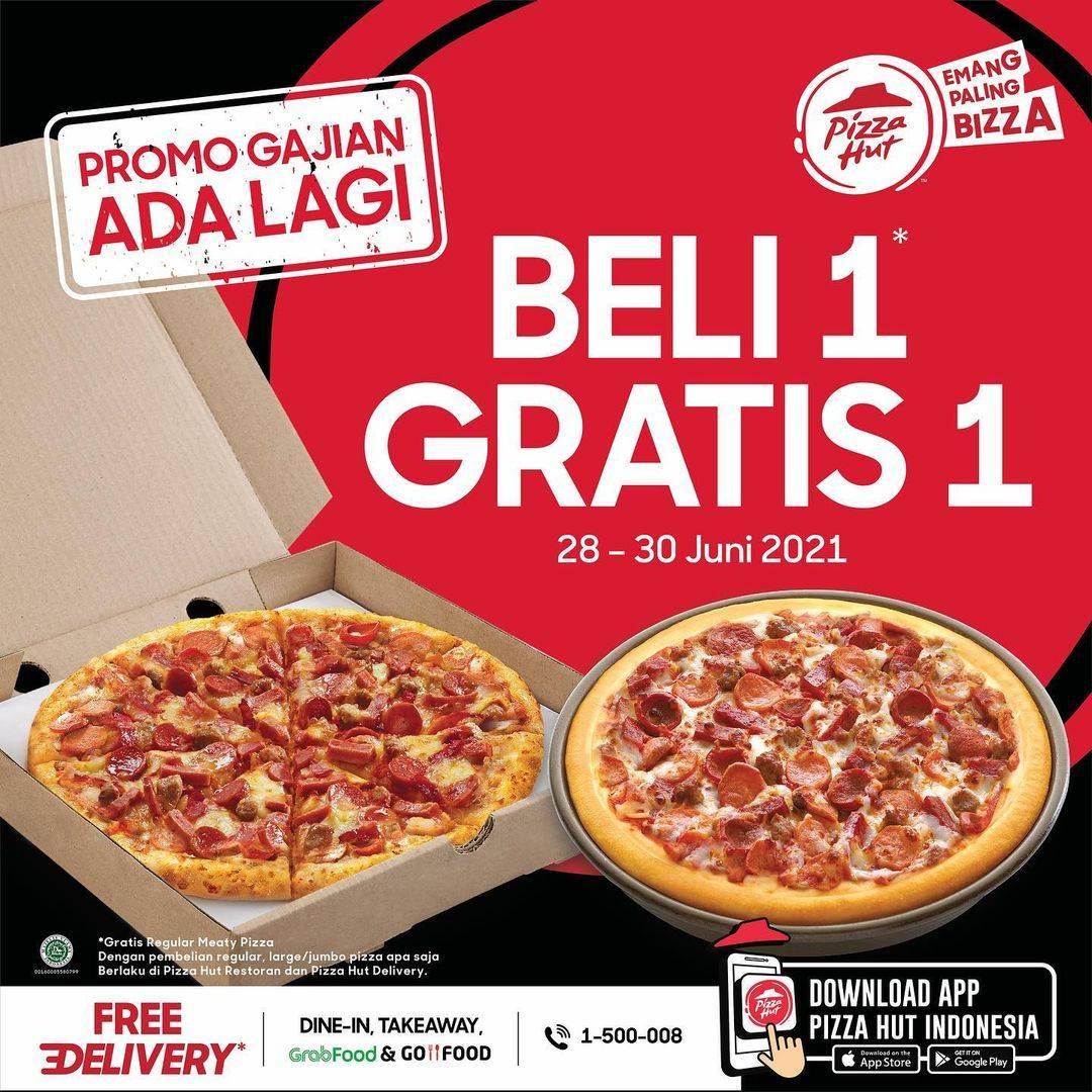 Diskon Pizza Hut Beli 1 Gratis 1 Regular Meaty Pizza