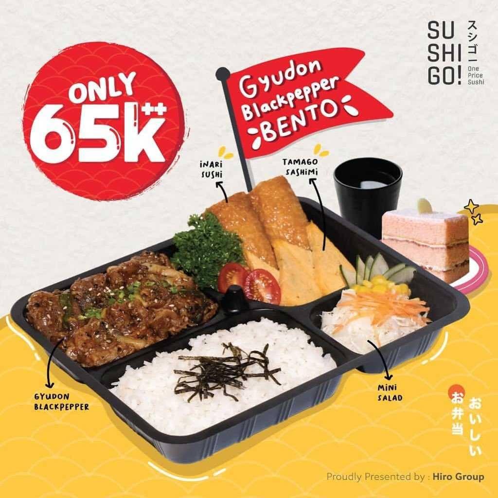 Promo diskon Sushi Tei Promo Gyudon Bento Hanya Rp. 65.000++