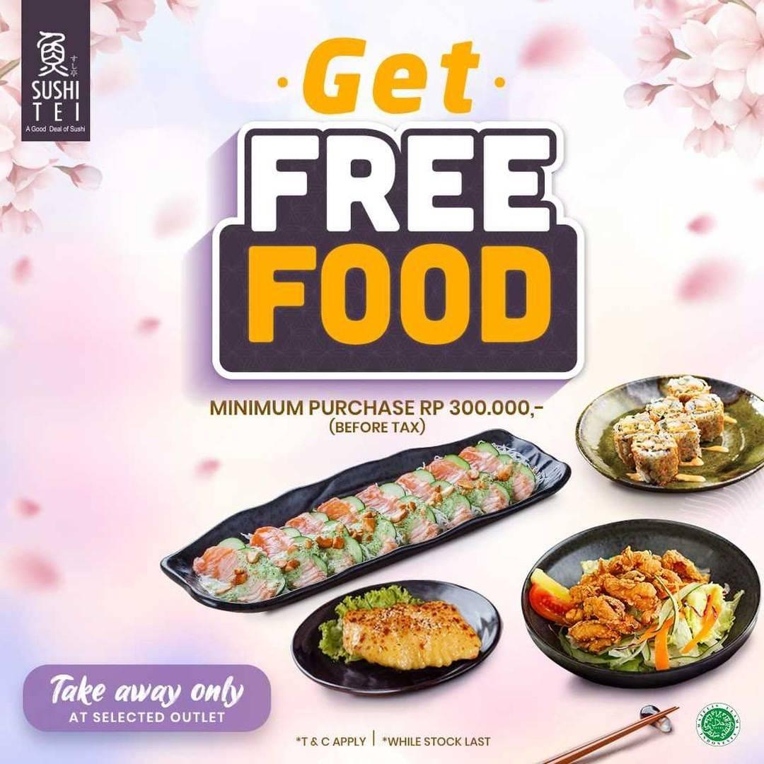 Diskon Sushi Tei Get Free Food