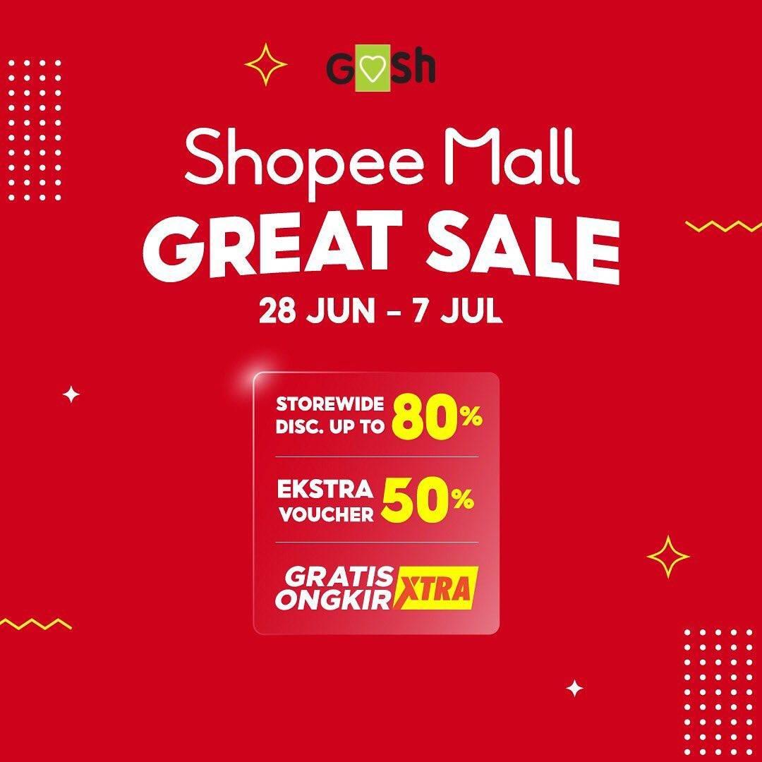 Diskon Gosh Promo Shopee Mall Great Sale