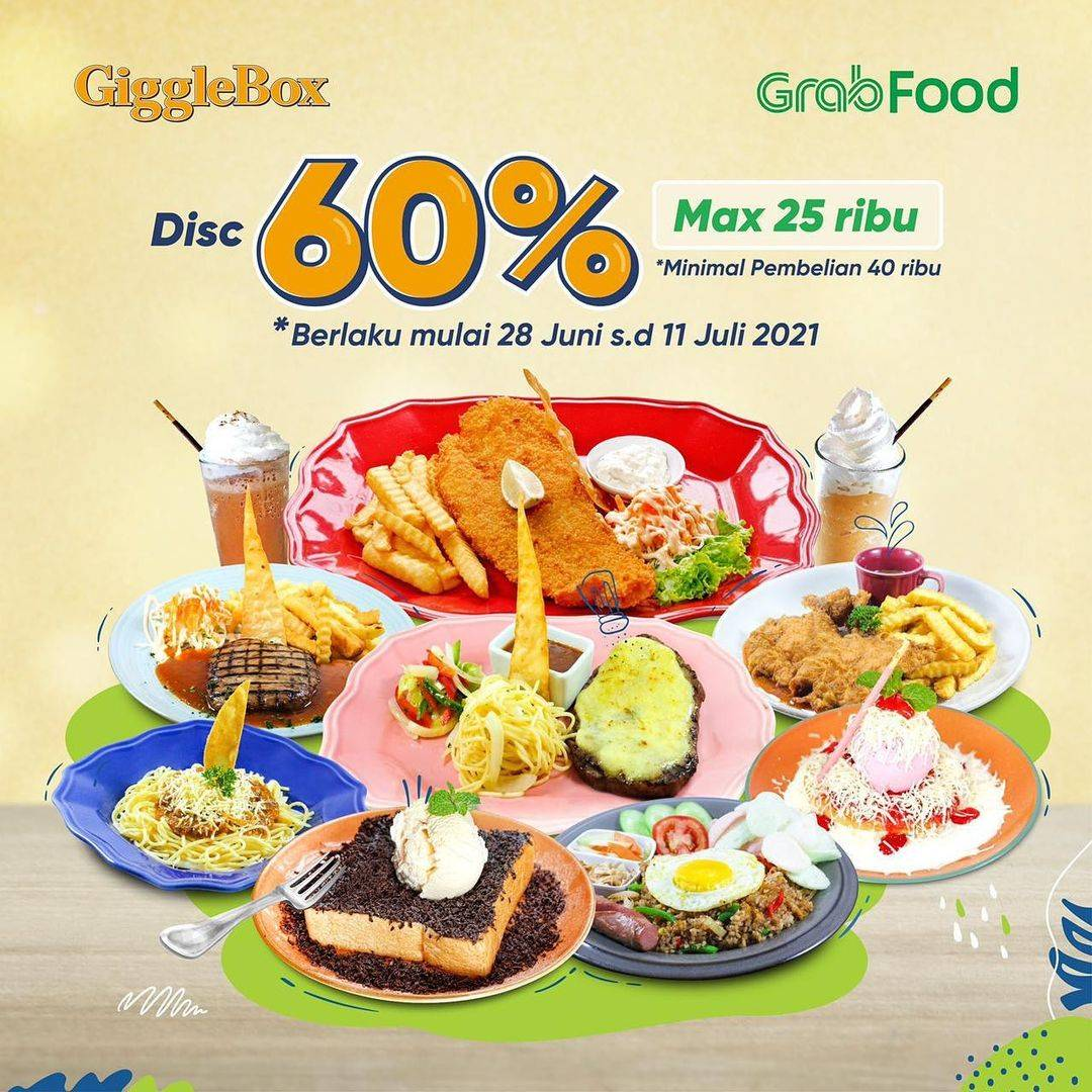 Diskon Giggle Box Discount 60% Off On GrabFood