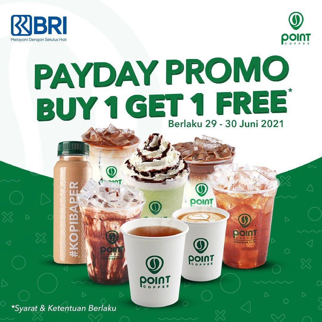 Diskon Point Coffee Payday Promo Buy 1 Get 1 Free With Debit BRI Card