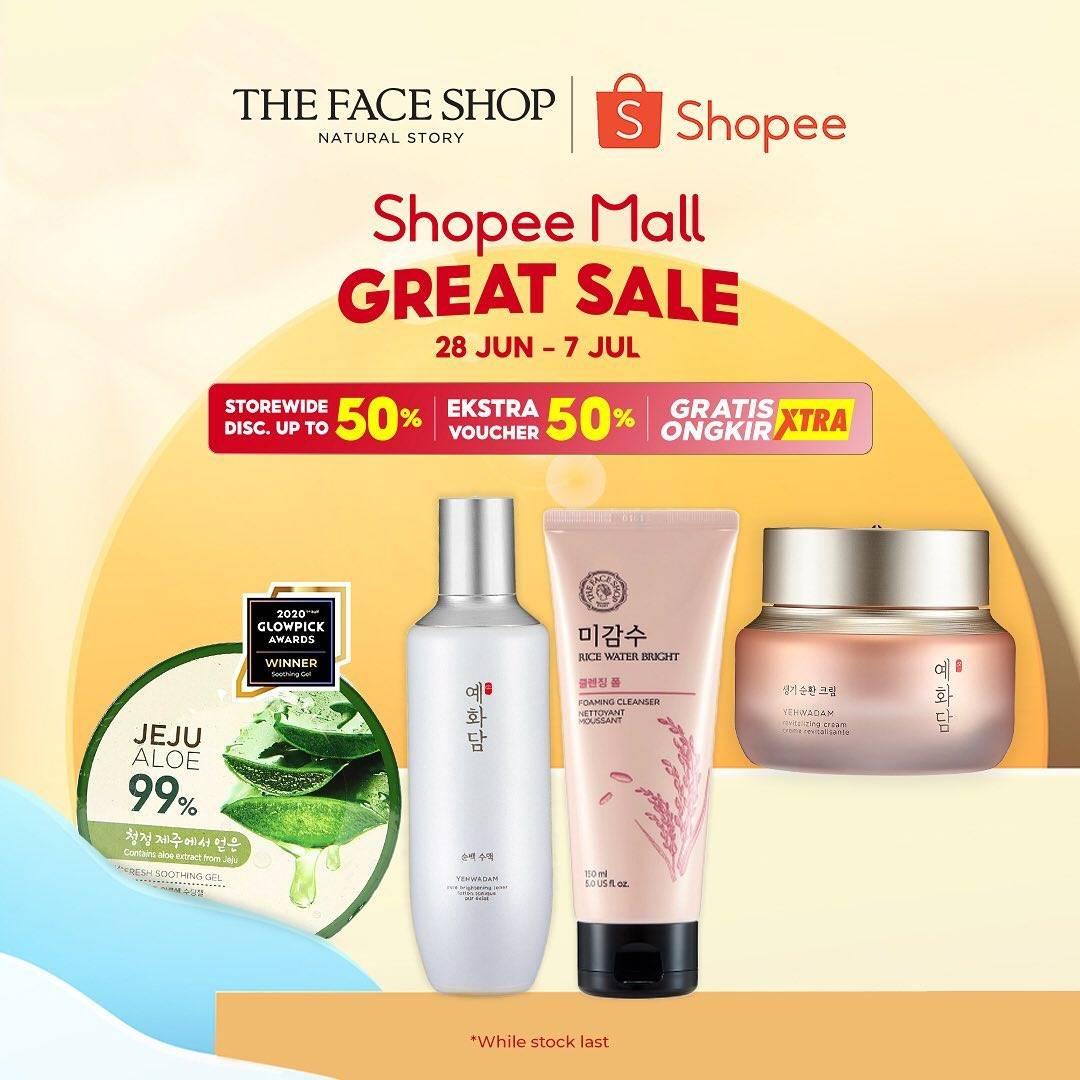 Diskon The Face Shop Promo Shopee Mall Great Sale