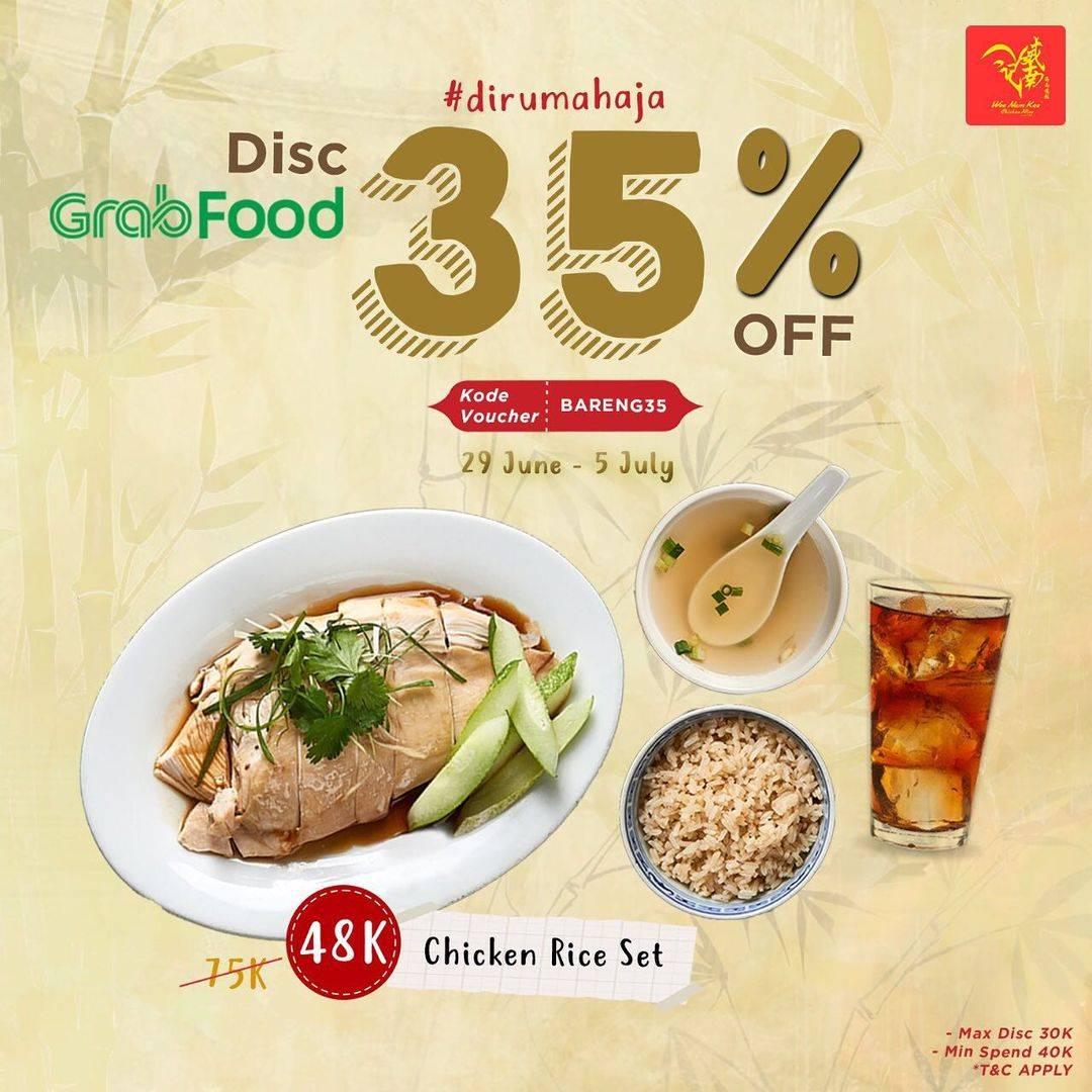 Diskon Wee Nam Kee Discount 35% Off On GrabFood