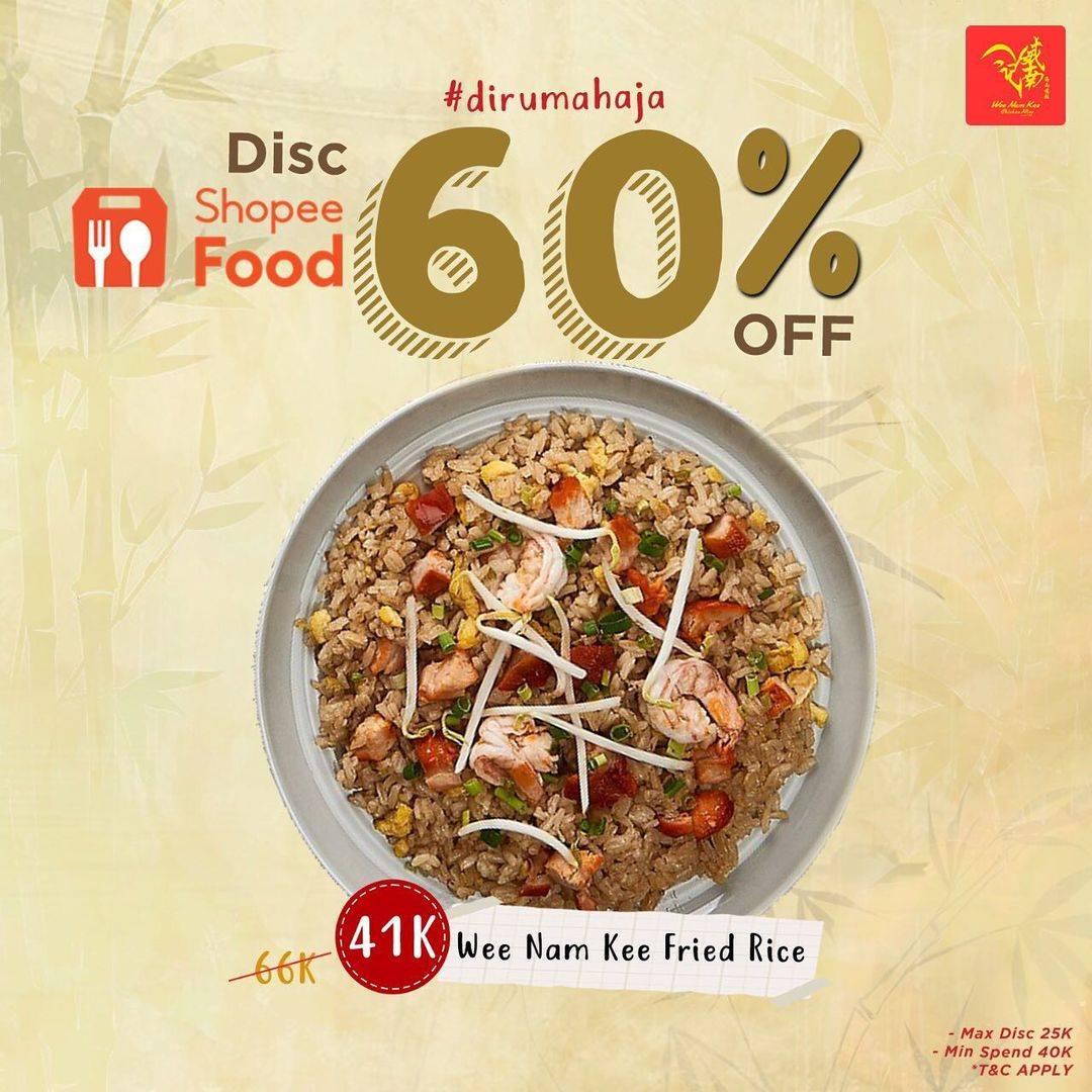 Diskon Wee Nam Kee Get Discount 60% Off On ShopeeFood