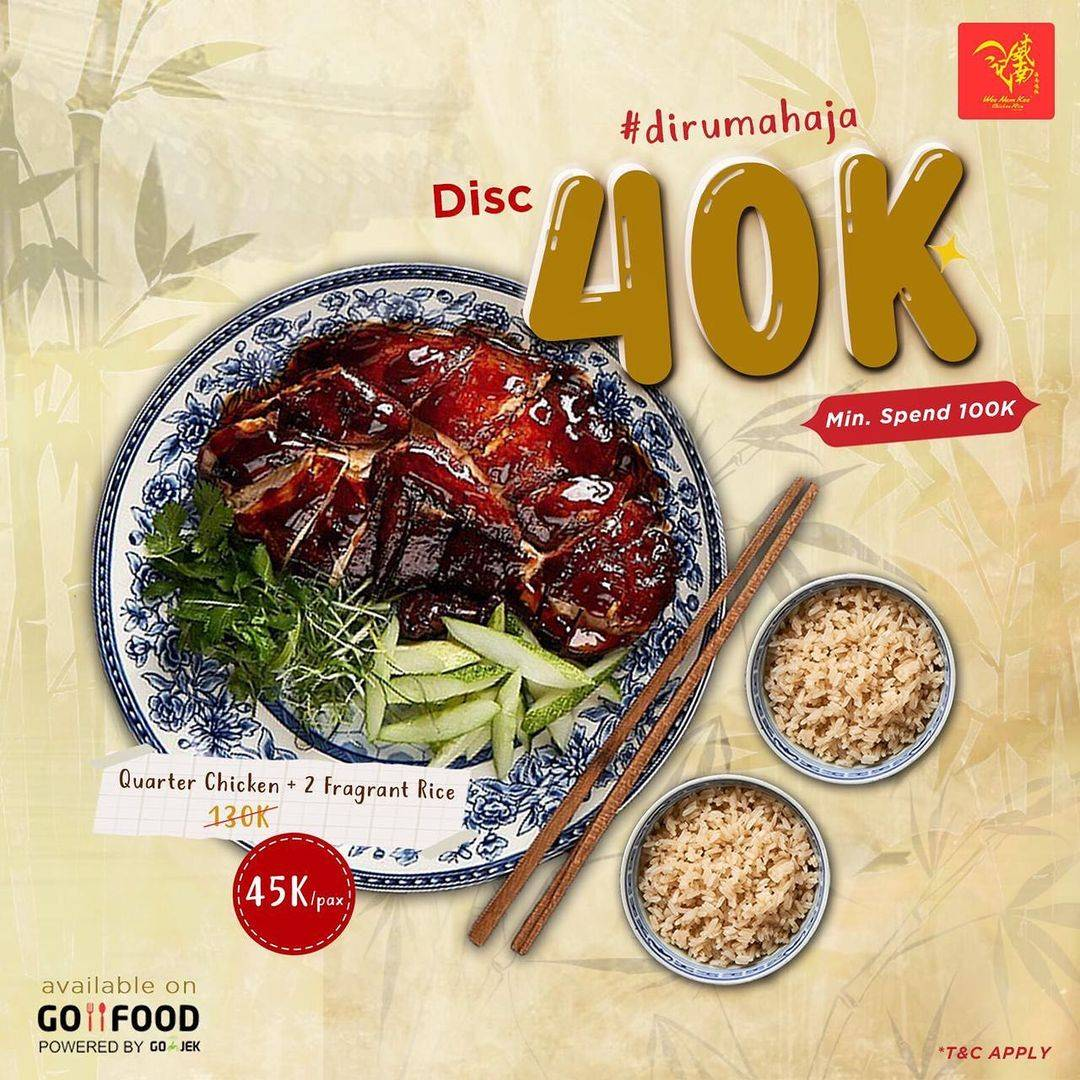 Diskon Wee Nam Kee Discount Rp. 40.000 On GoFood
