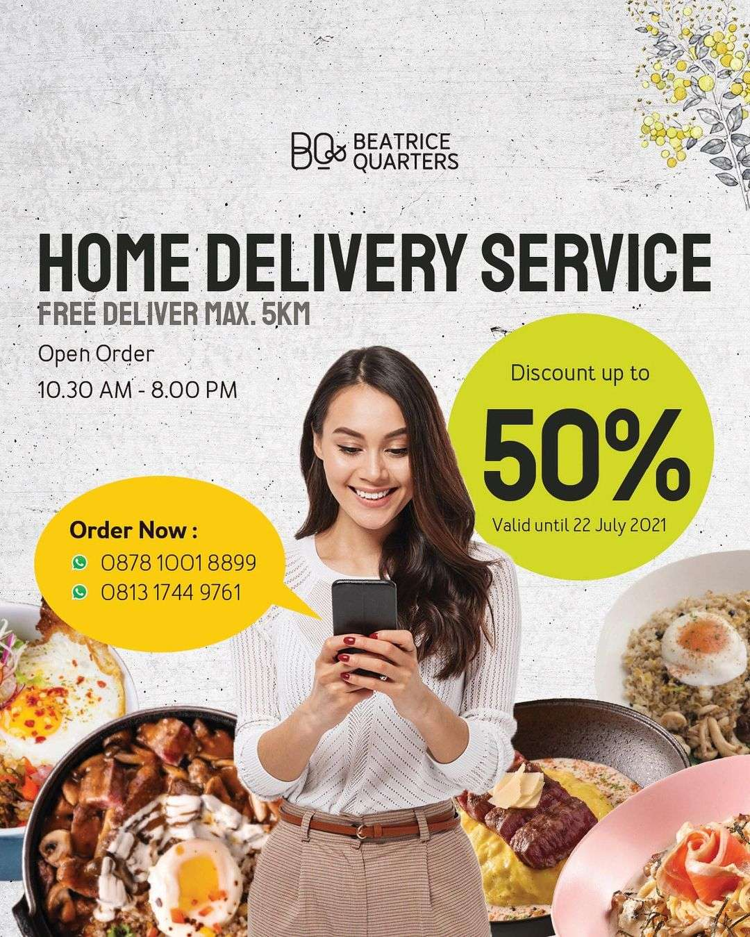 Diskon Beatrice Quarters Home Delivery Service Discount Up To 50% Off