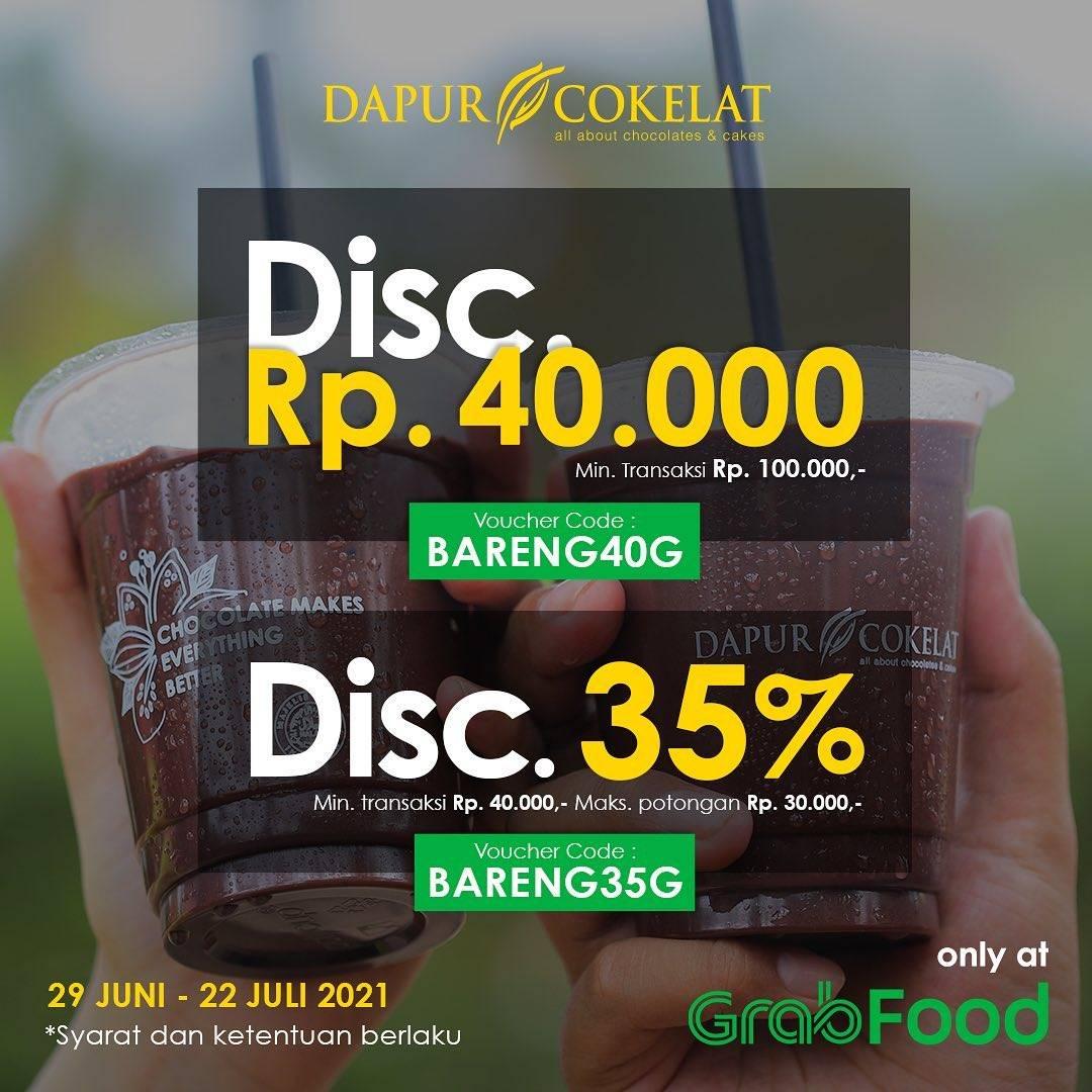Diskon Dapur Cokelat Discount 35% Off On GrabFood