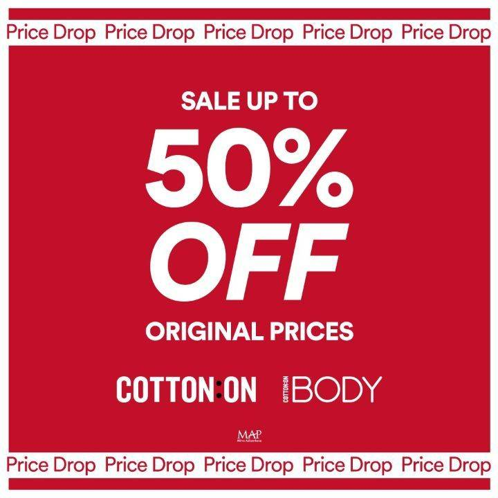 Diskon Cotton On and Cotton On Body Sale Up To 50% Off
