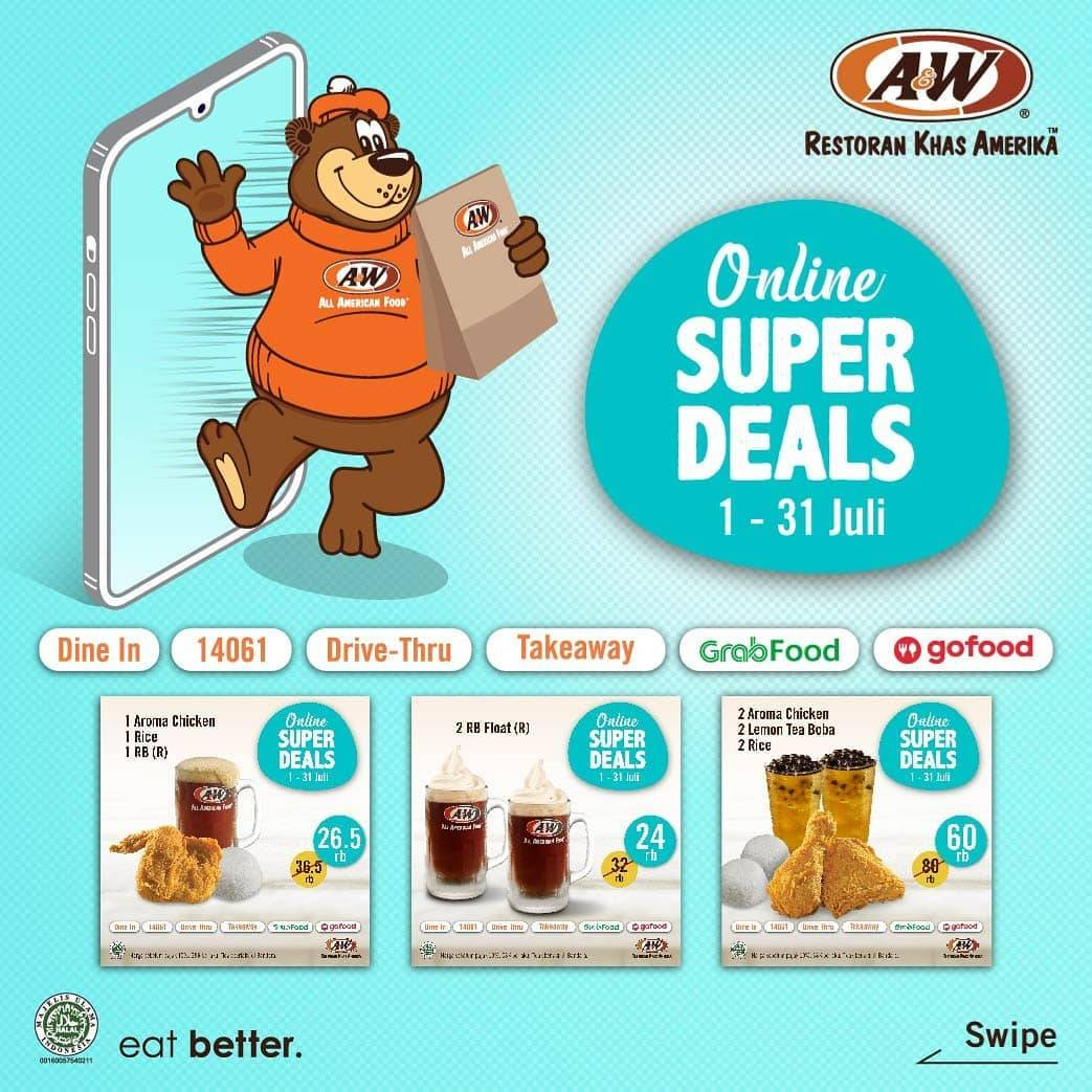 Diskon Promo A&W Restaurant Online Super Deals Periode Bulan Juli
