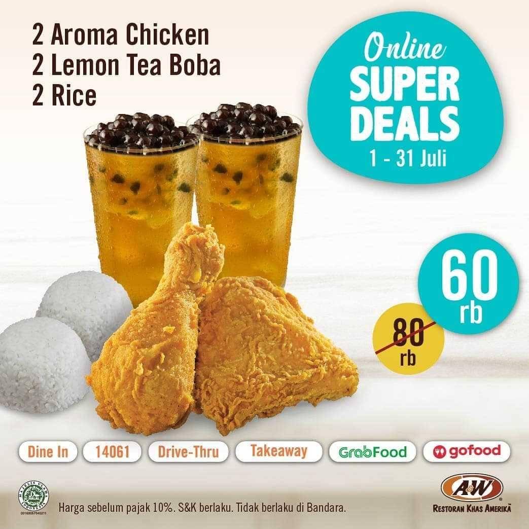 Promo diskon Promo A&W Restaurant Online Super Deals Periode Bulan Juli