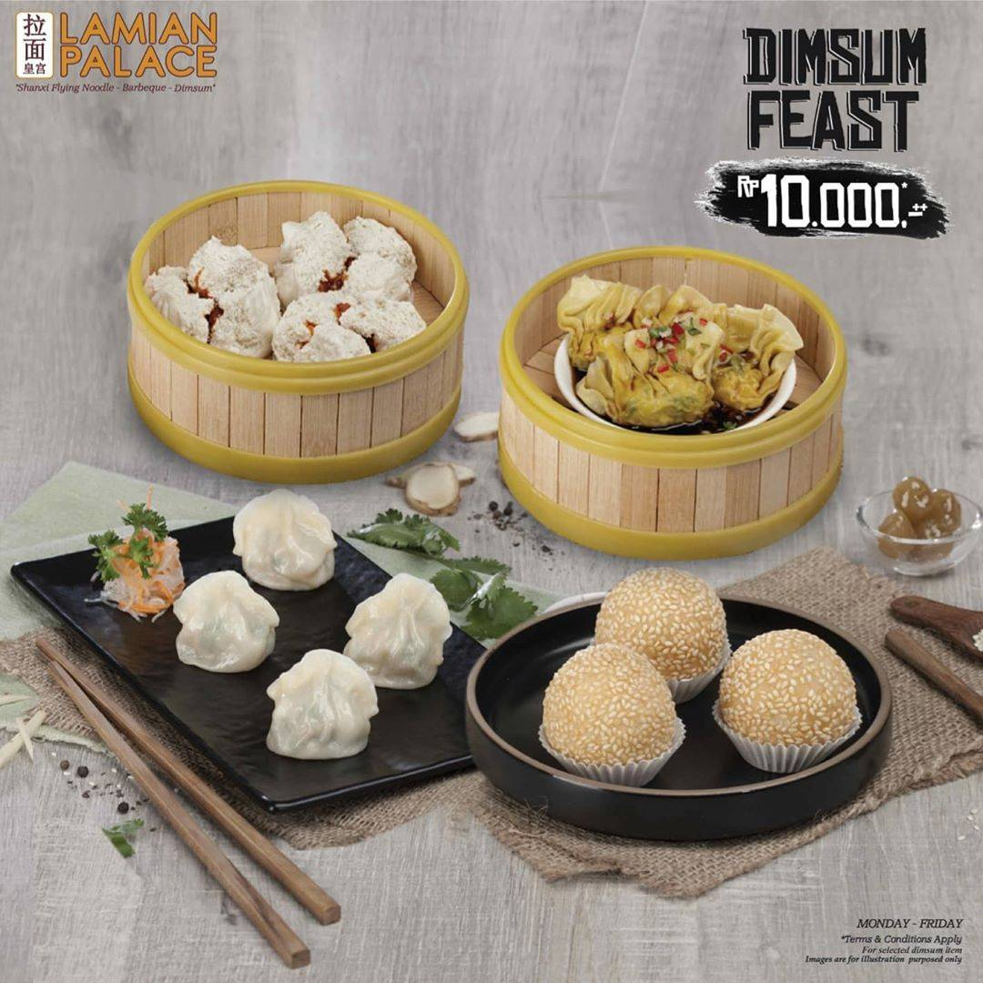 Diskon Promo Dimsum Feast Lamian Palace Special Value Favorite Dimsum Only For Rp. 10.000