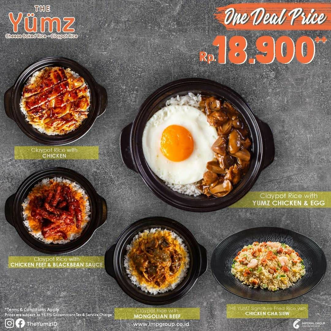 Diskon Promo One Deal Price The Yumz Favourite Menu Only For Rp. 18.900