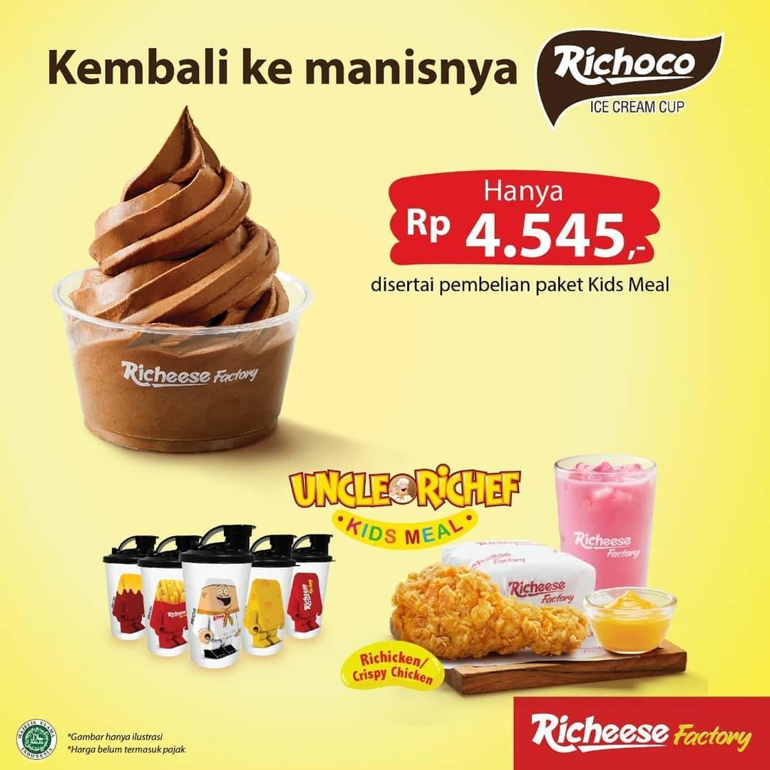 Diskon Promo Richeese Factory Beli Paket Kids Meal Dapat Ice Cream Cup Untuk Penambahan Rp. 4.545