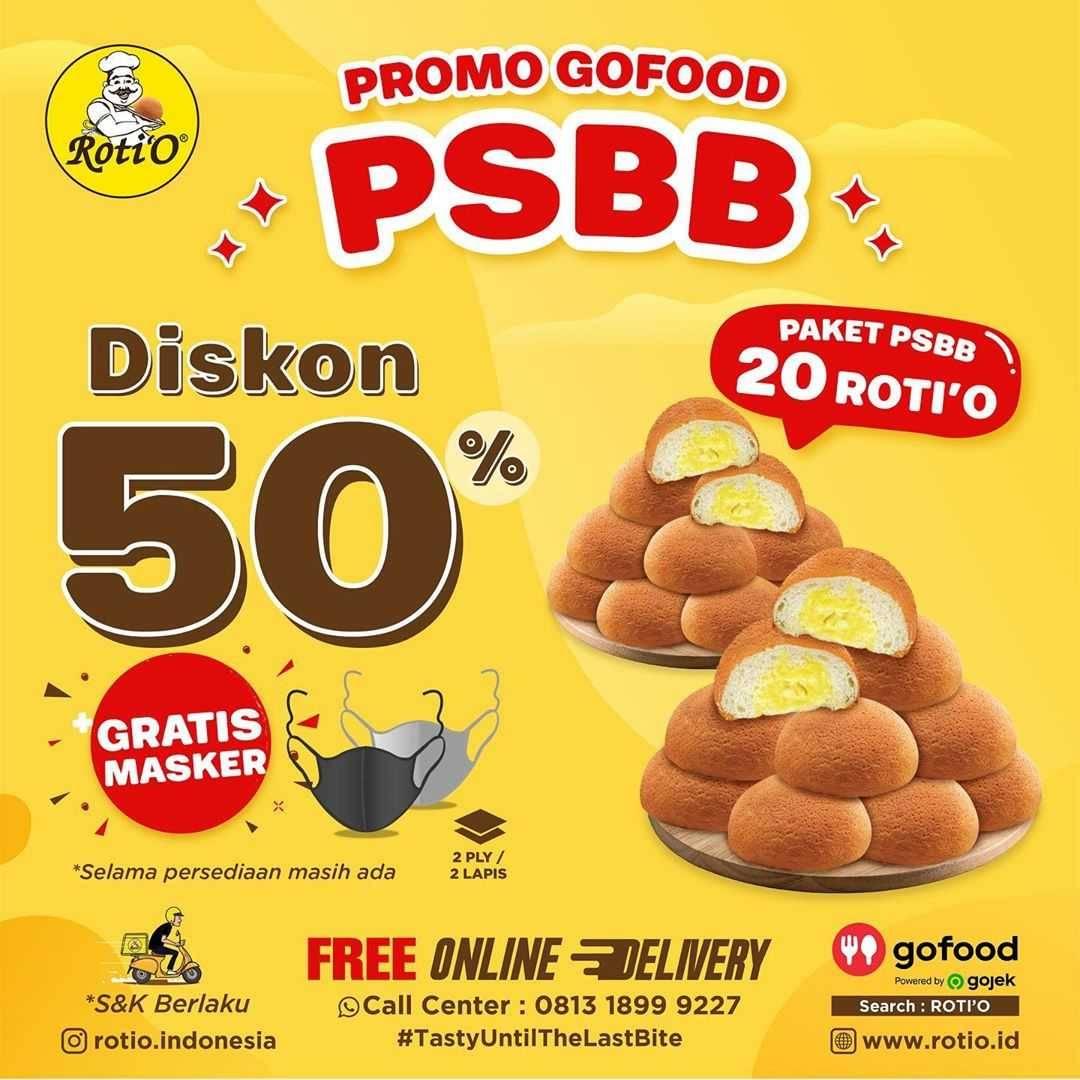 Promo diskon Promo Besar Besaran Roti'O Periode Bulan Juli 2020