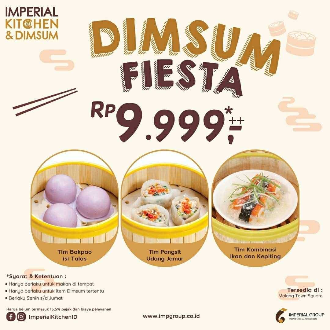 Promo diskon Promo Imperial Kitchen & Dimsum Harga Spesial Dimsum Fiesta Hanya Rp. 9.999