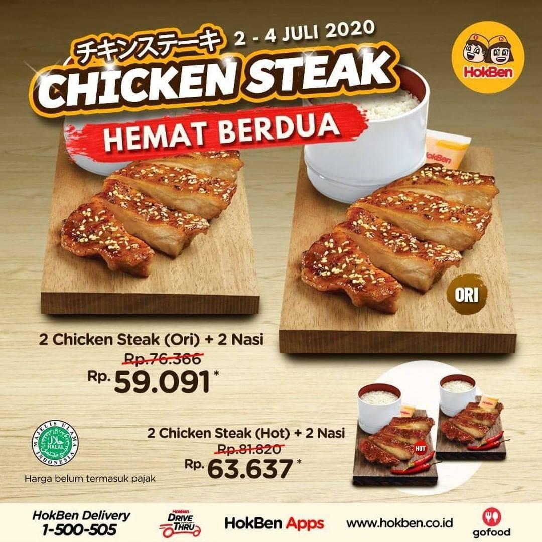 Diskon Promo HokBen Paket Chicken Steak Hemat Berdua Dengan Harga Mulai Dari 59.091