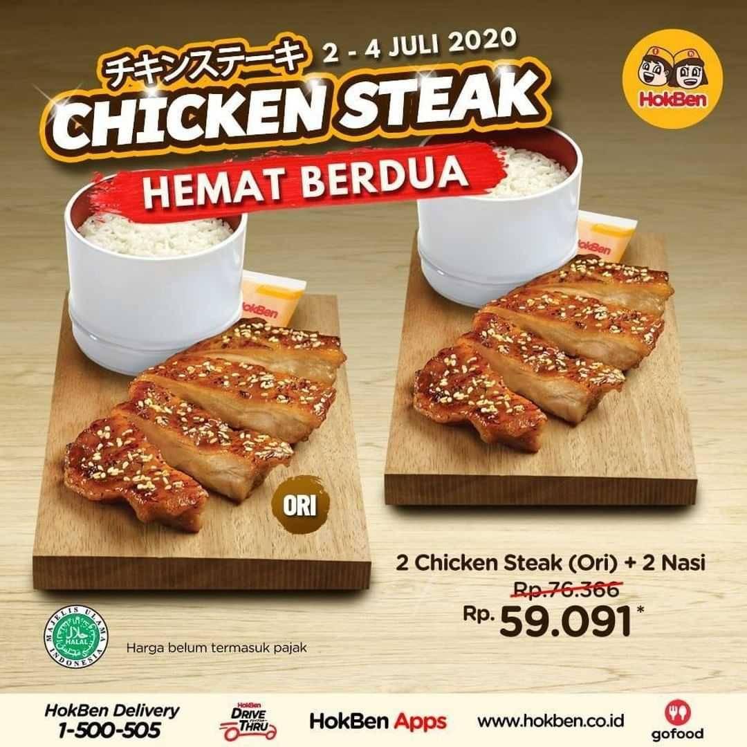Promo diskon Promo HokBen Paket Chicken Steak Hemat Berdua Dengan Harga Mulai Dari 59.091