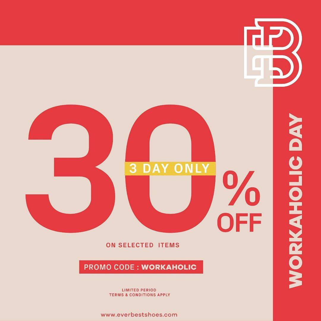 Diskon Promo Everbest Discount 30% Off On Selected Items