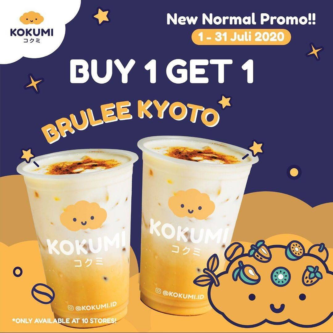 Diskon Promo Kokumi Buy 1 Get 1 Free Brulee Kyoto Only For Dine In