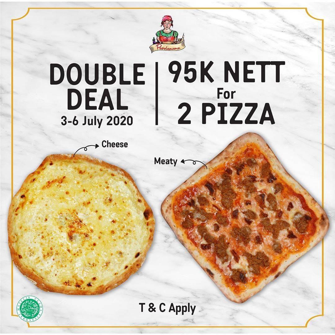 Diskon Promo Popolamama Double Deal! Harga Spesial 2 Pizza Favorit Hanya Rp. 95.000