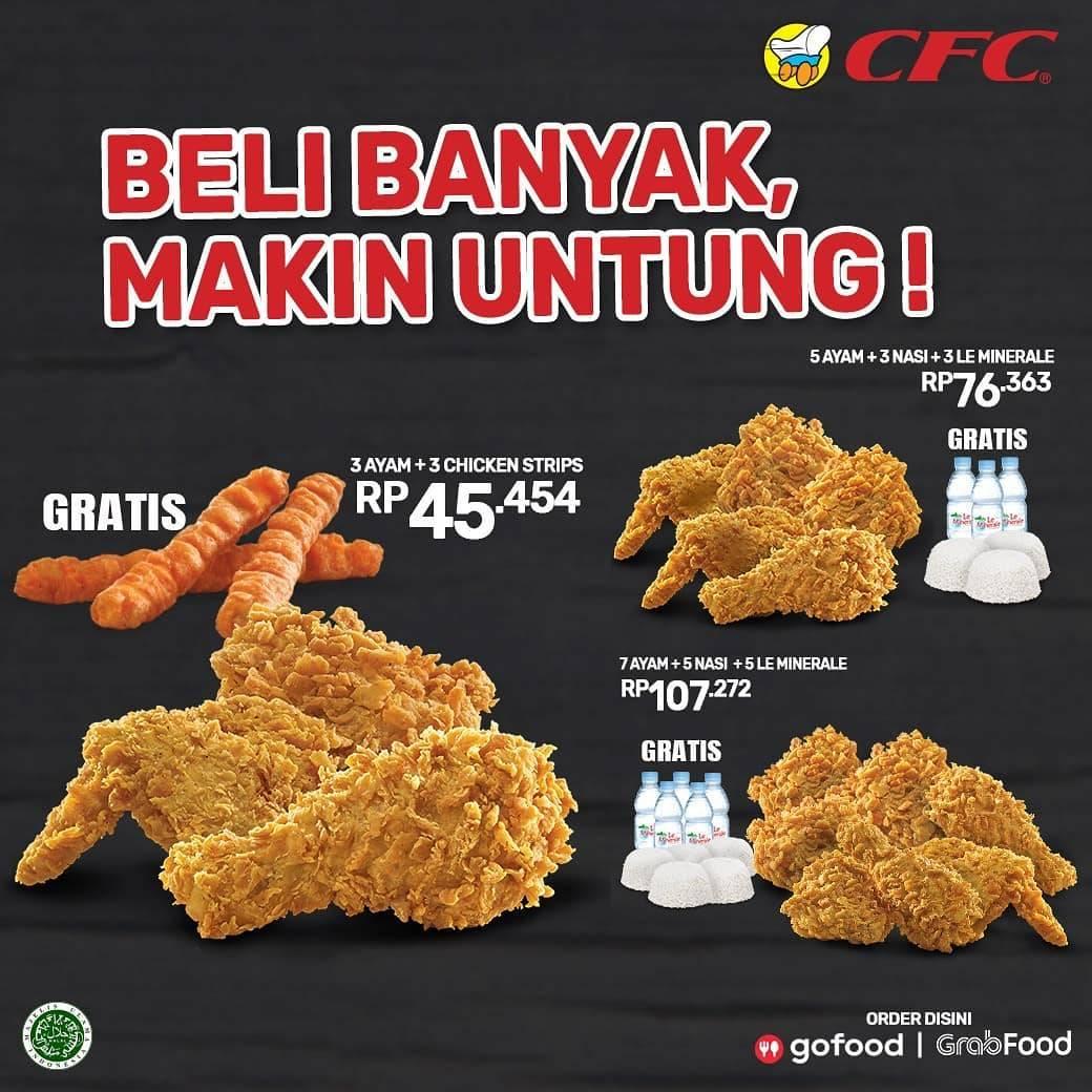 Diskon Promo CFC Gratis Menu Pilihan Setiap Pembelian Paket Fried Chicken