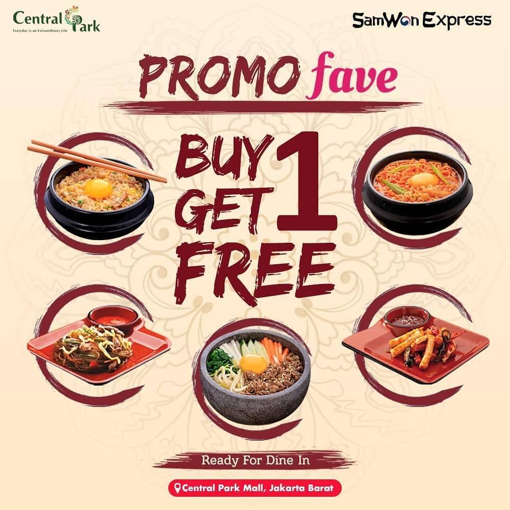 Diskon Promo Samwon Kupon Beli 1 Gratis 1 Dari Aplikasi Fave &  Zomato