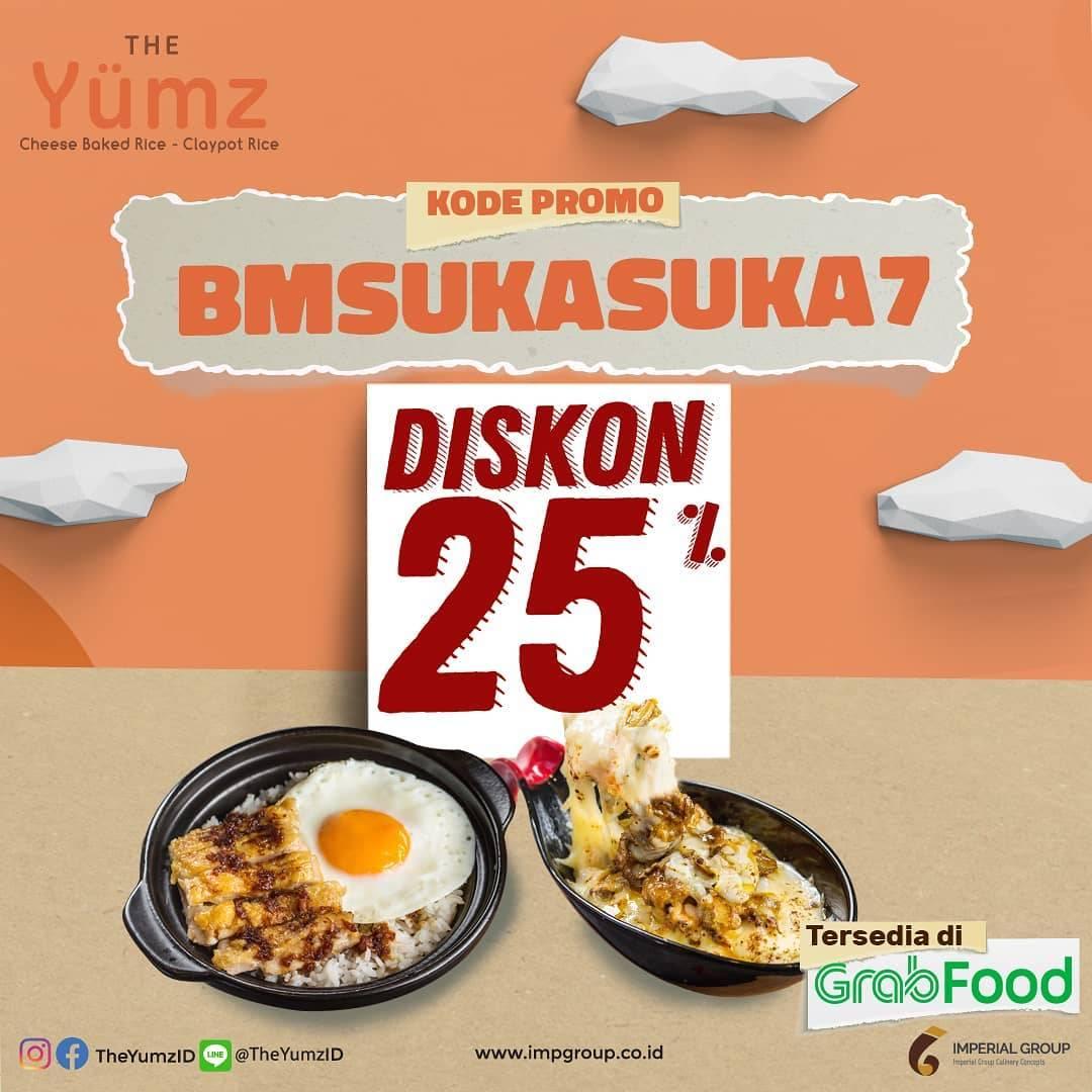 Diskon Promo The Yumz Diskon 25% Untuk Pemesanan Menu Melalui GrabFood