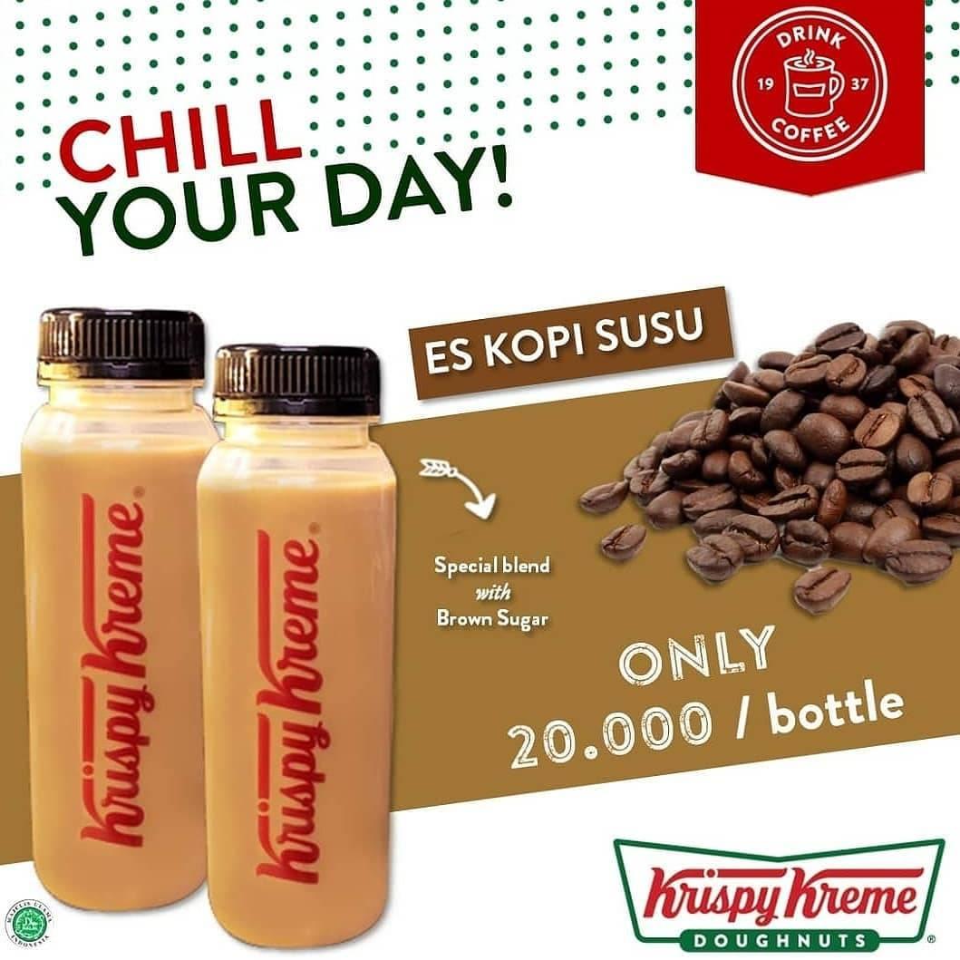 Diskon Krispy Kreme Promo Es Kopi Susu Hanya Rp 20.000 Order via GrabFood & GoFood