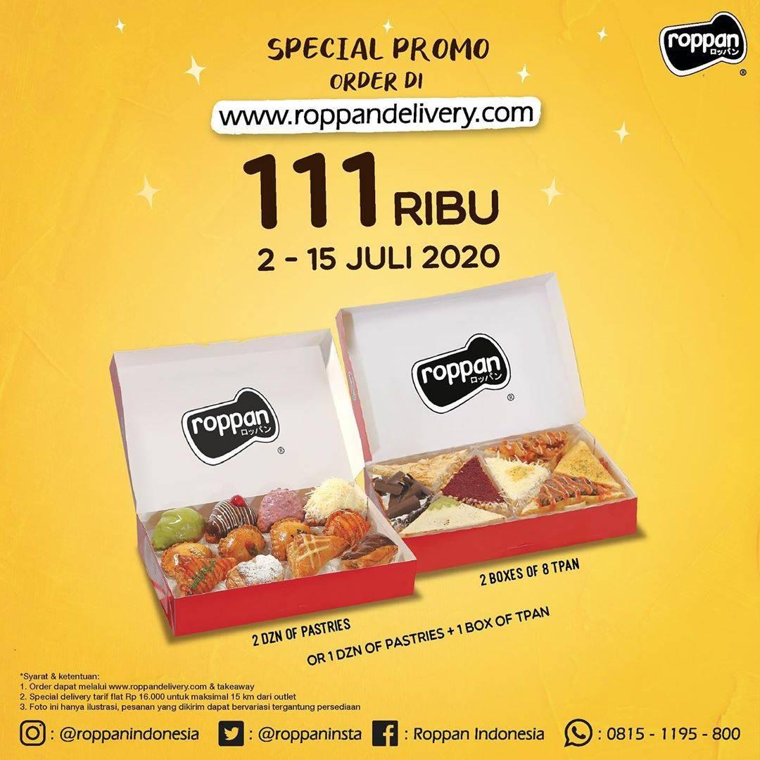 Diskon Roppan Promo Harga Spesial 2 lusin Pastry atau 2 box T-Pan hanya Rp. 111.000