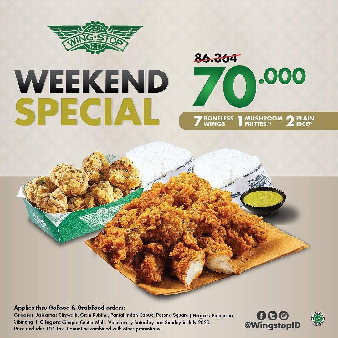Diskon Promo Wingstop Paket Weekend Special Hanya Rp. 70.000