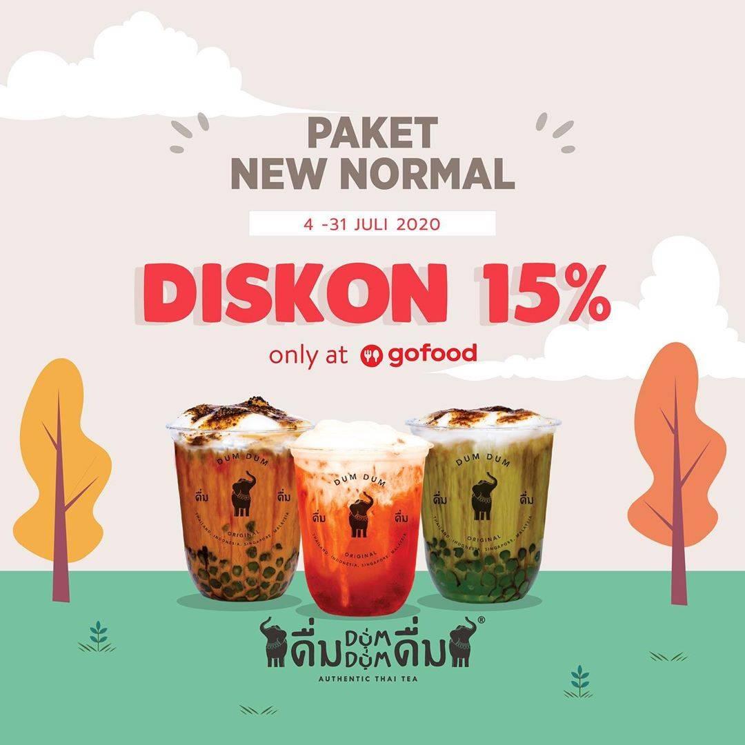 Diskon Promo Dum Dum Diskon 25% Untuk Pembelian Paket New Normal Melalui GoFood