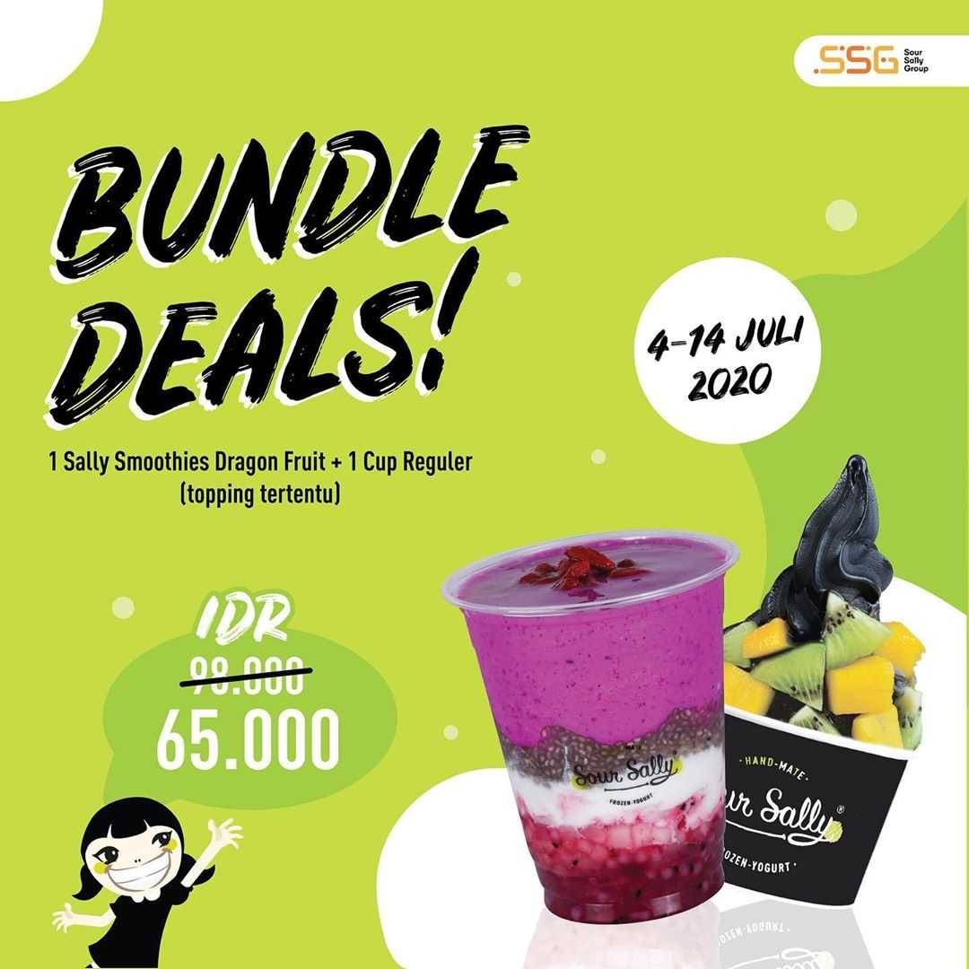 Promo diskon Promo Sour Sally Bundle Deals 1 Sally Smoothies + 1 Cup Regular Start From 65.000