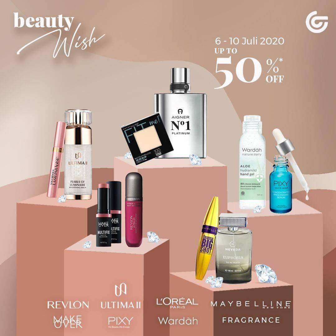Diskon Promo Beauty WIsh Matahari Department Store! Diskon Hingga 50% Untuk Produk Kecantikan