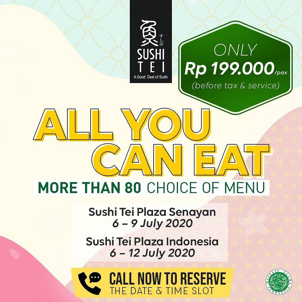 Diskon Promo Sushi Tei All You Can Eat Only For Rp. 199.000/Pax