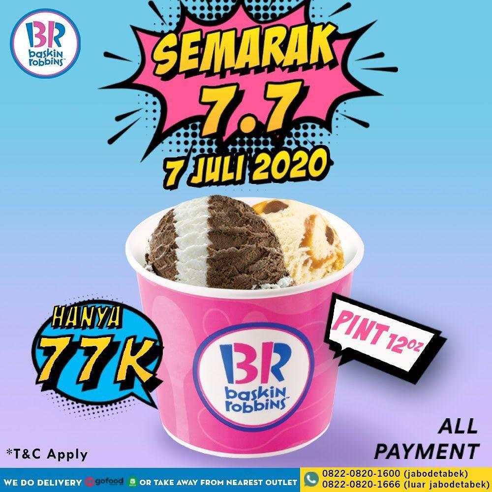 Diskon Promo Semarak 7.7 Baskin Robbins Fresh Pack Pint Hanya Rp. 77.000