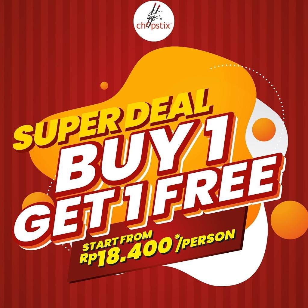 Diskon Promo Chopstix Super Deal Buy 1 Get 1 Free