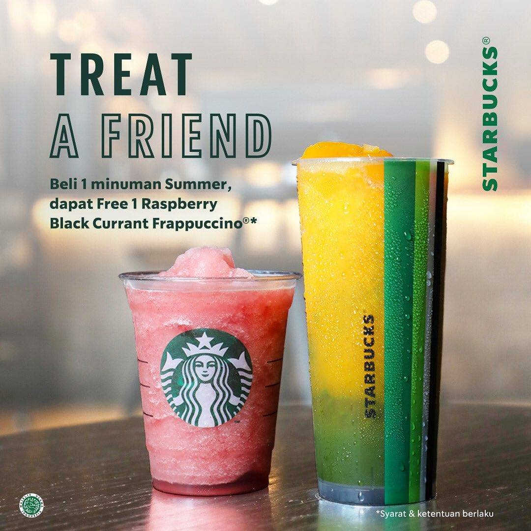 Diskon Promo Treat A Friend Starbucks Buy 1 Get 1 Free