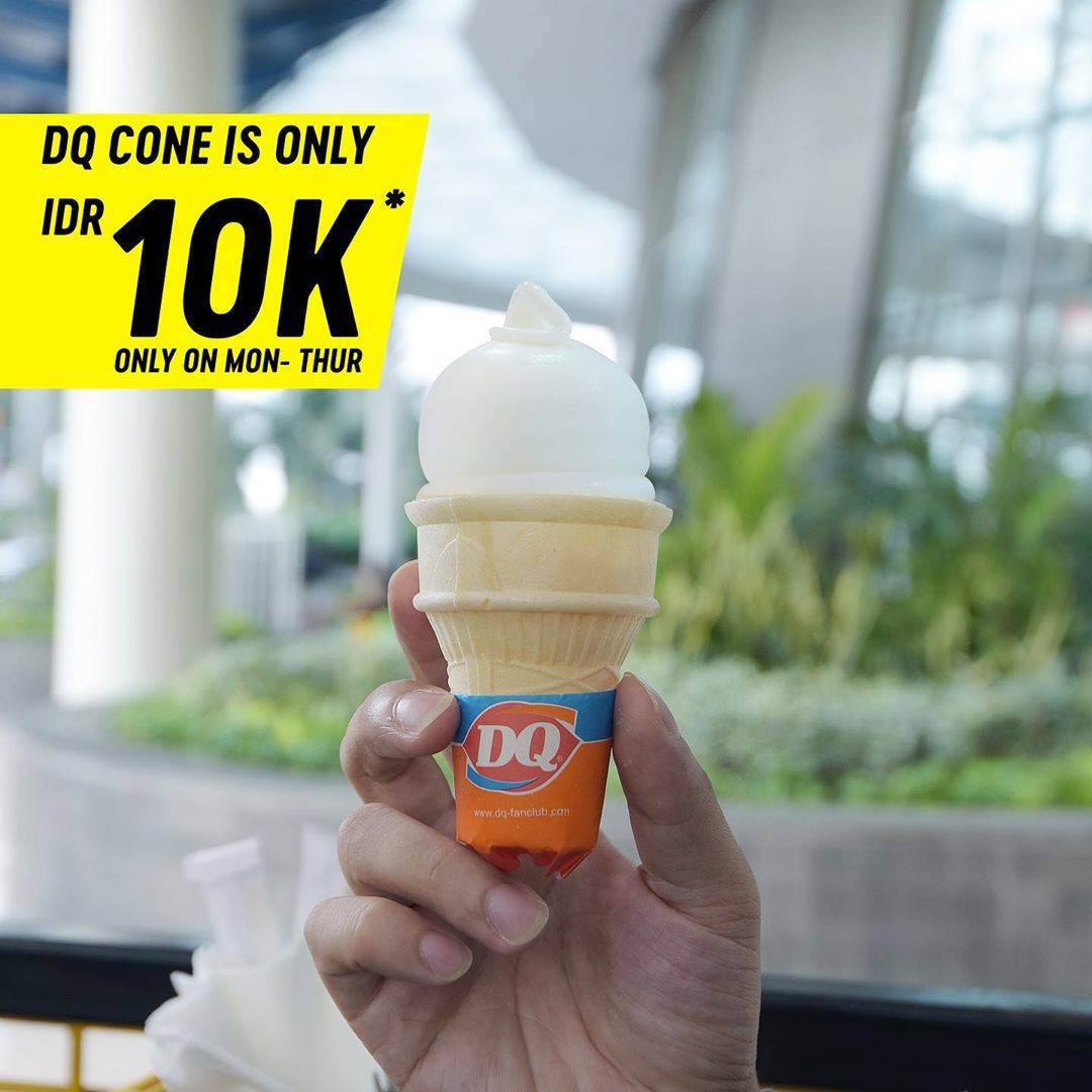 Diskon Promo Dairy Queen Single Cone Only For IDR. 10.000