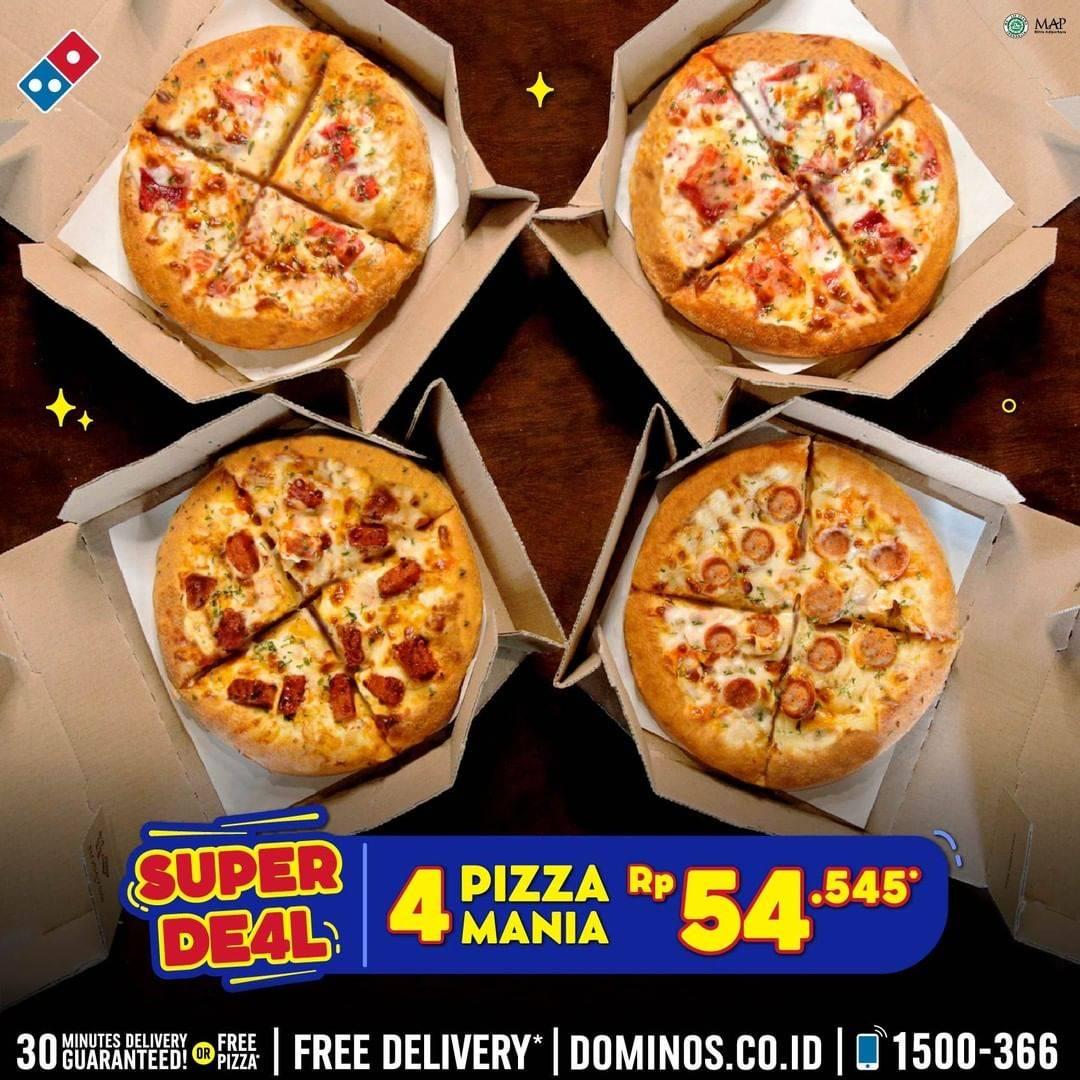 Promo Domino S Pizza 4 Pizza Mania Hanya Rp 54 Ribuan Disqonin