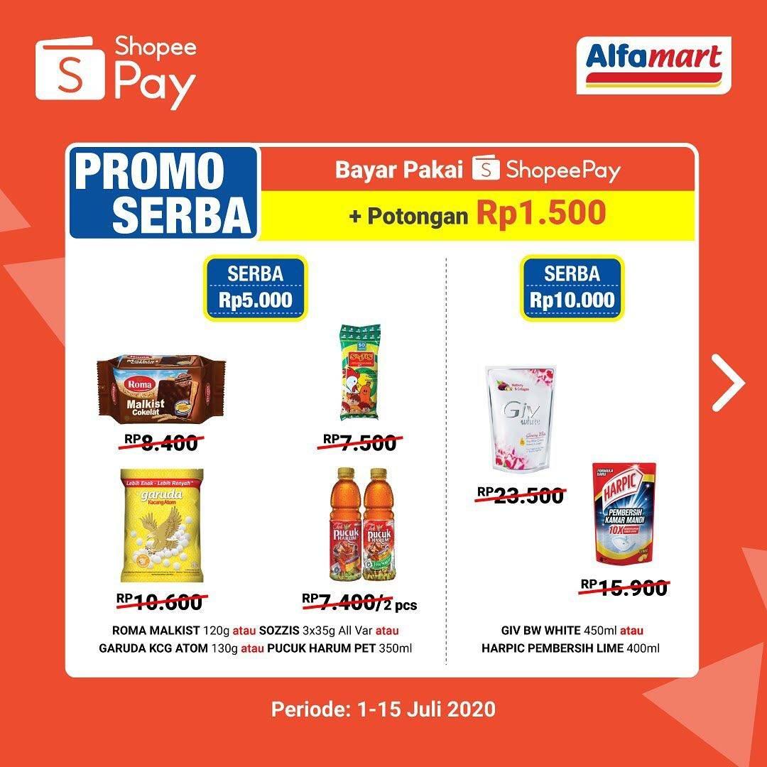 Diskon Katalog Promo Serba Murah Meriah Alfamart dengan ShopeePay Periode 1 - 15 Juli 2020