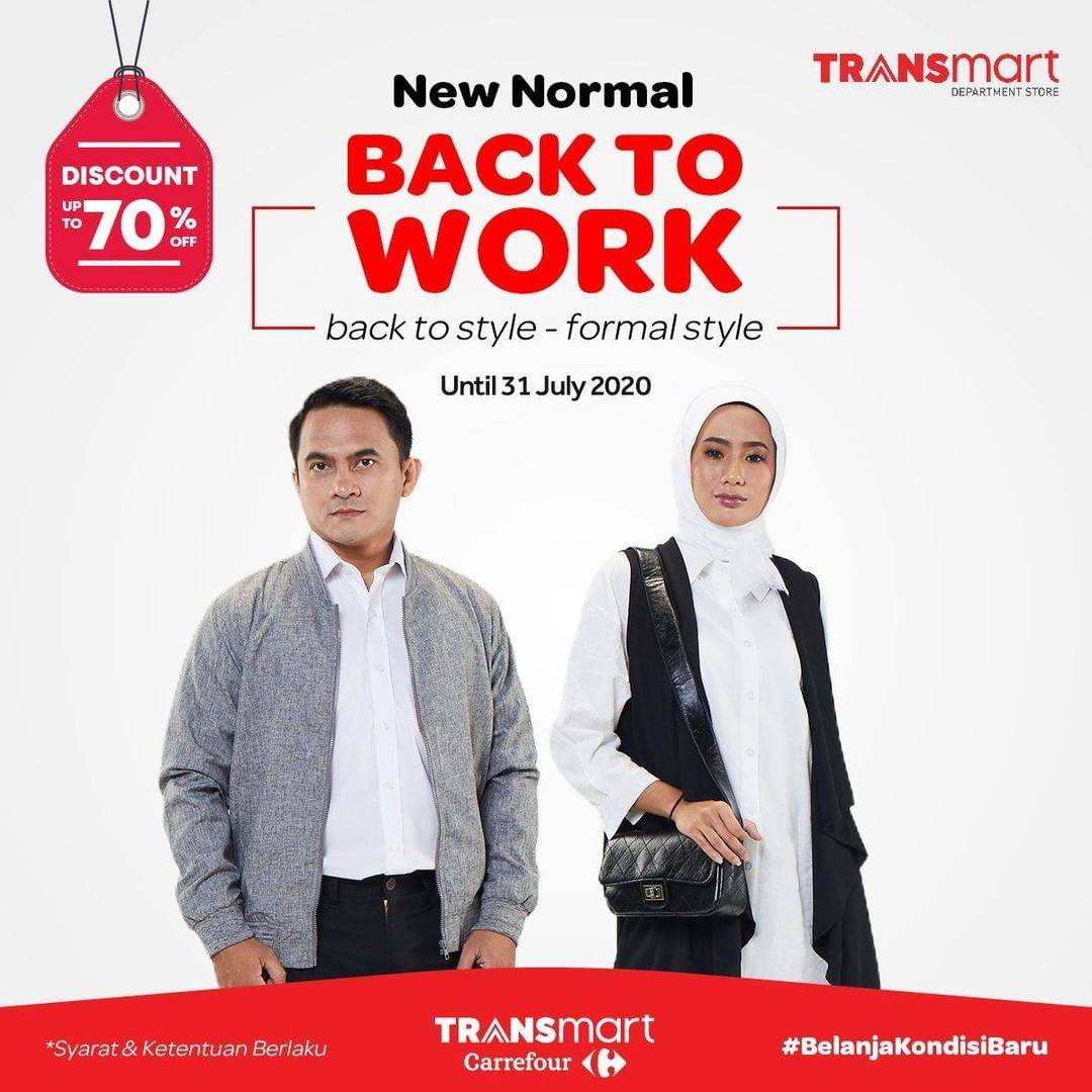 Diskon Katalog Promo Transmart Back To Work Periode hingga 31 Juli 2020