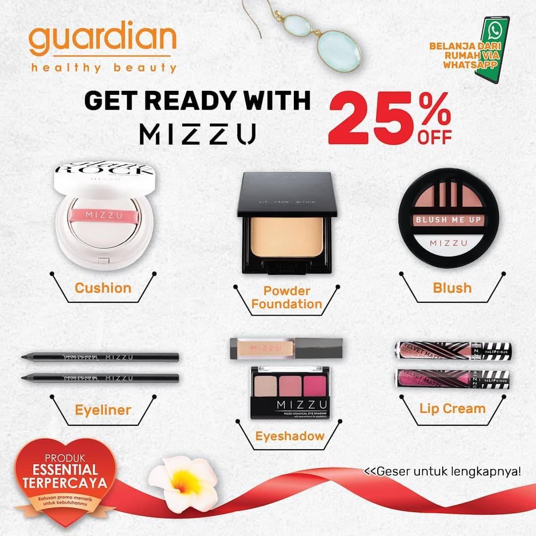 Diskon Katalog Promo Guardian Produk Mizzu 25% Off Periode hingga 22 Juli 2020