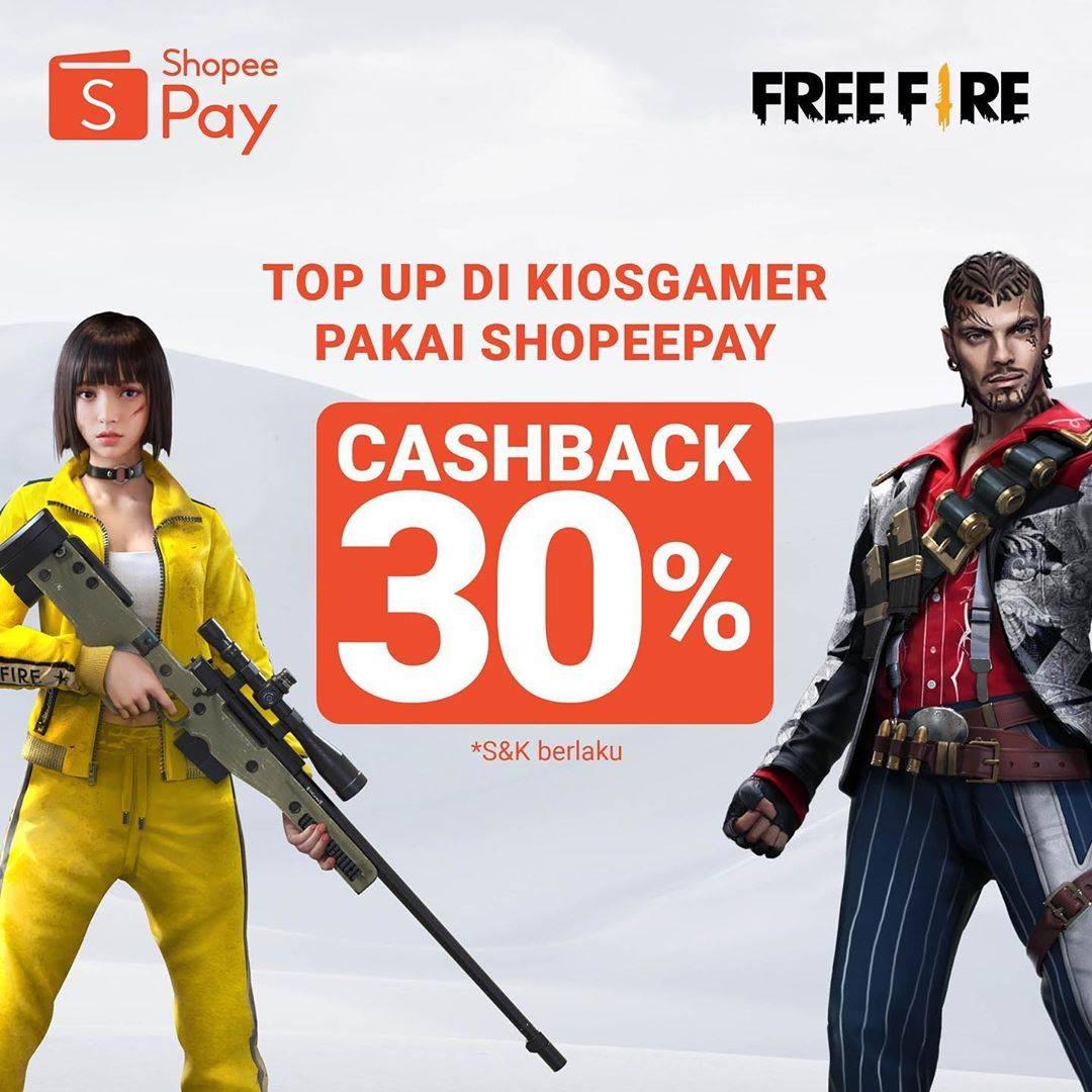 Diskon Promo Shopeepay di KiosGamer Cashback 30%