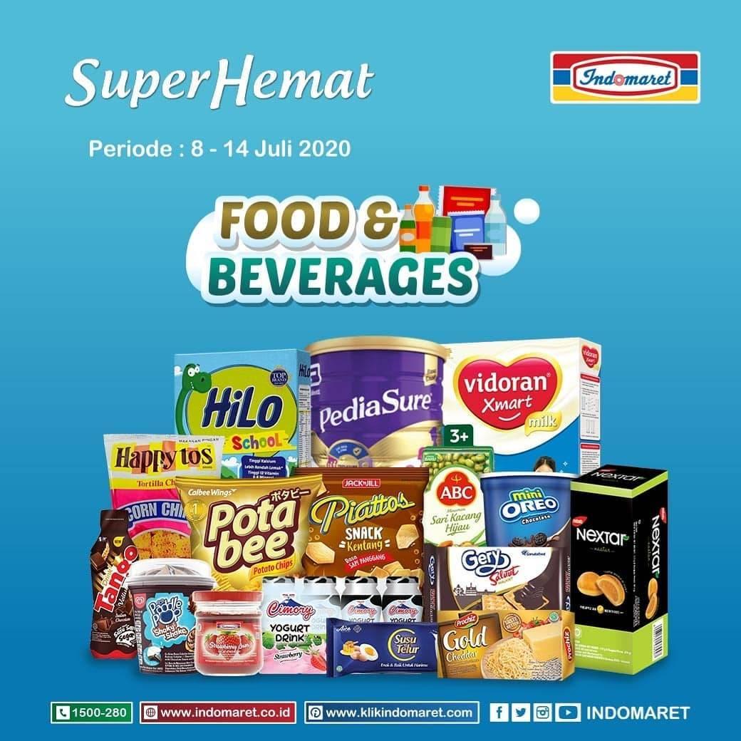 Diskon Katalog Promo Indomaret Super Hemat (Makanan Minuman) Periode 8 - 14 Juli 2020
