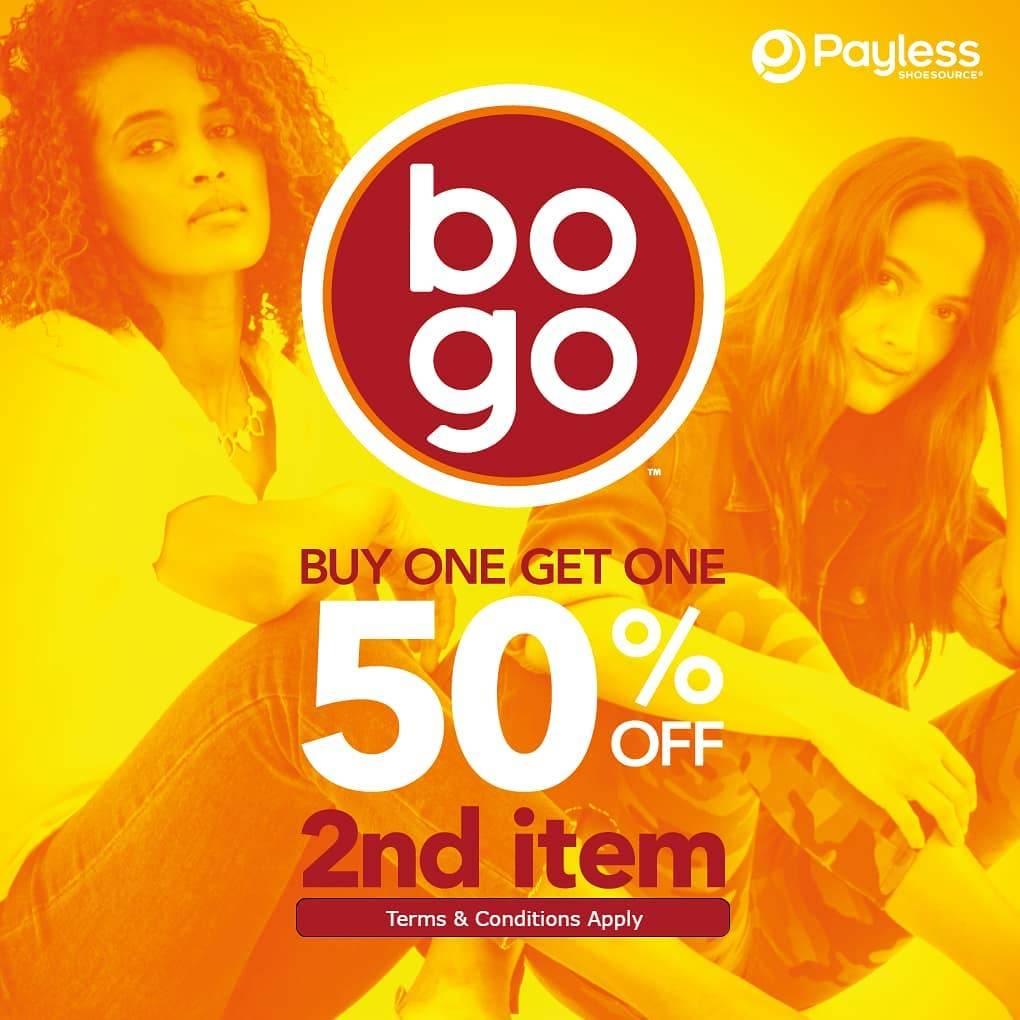 Diskon Promo Payless Buy 1 Get 1 50% Off For Second Item