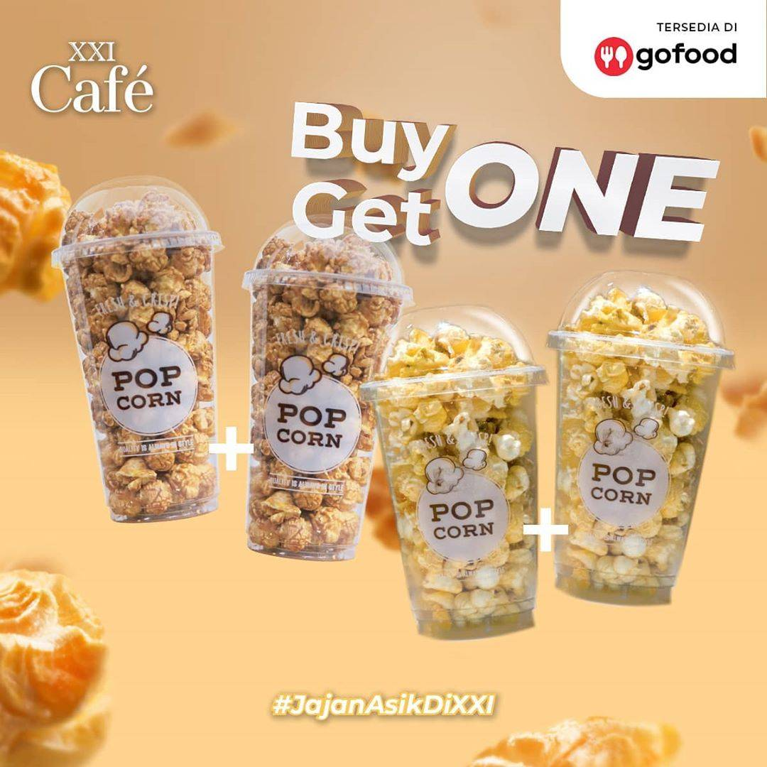 Diskon Promo XXI Cafe Buy 1 Get 1 Free Popcorn